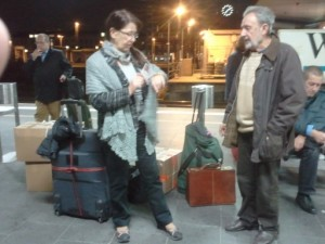 Frau Horn & Dr. Mehrain vor der Abreise
