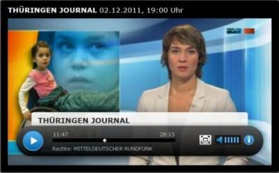 Fernsehbericht über Sara
