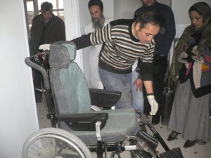 Rollstuhl vor der Übergabe