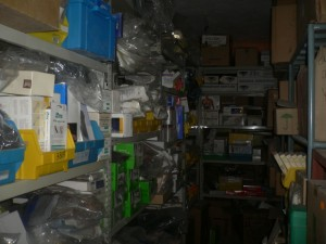 Lager der Werkstatt in Kabul